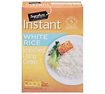 Signature SELECT Rice White Enriched Long Grain Instant - 28 Oz
