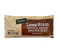 Signature SELECT Rice Brown Whole Grain Long Grain - 16 Oz