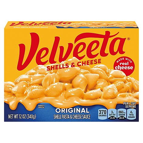 Velveeta Shells & Cheese Original Box - 12 Oz