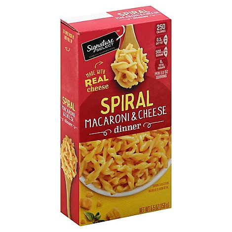 Signature SELECT Spiral Macaroni & Cheese Dinner Mix - 5.5 Oz
