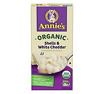 Annies Homegrown Macaroni & Cheese Organic Shells & White Cheddar Box - 6 Oz