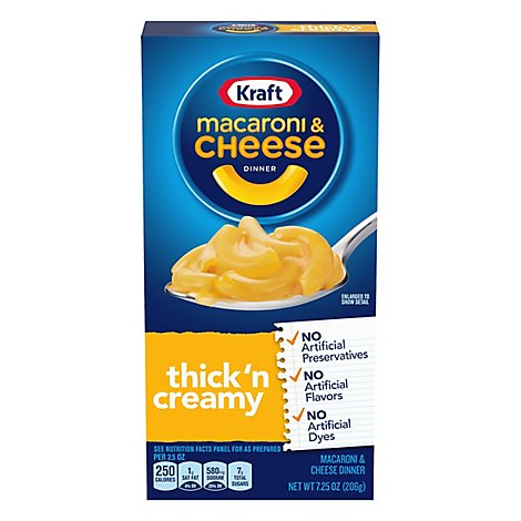 Kraft Macaroni & Cheese Dinner Thickn Creamy Box - 7.25 Oz