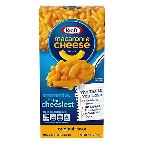 Kraft Macaroni & Cheese Dinner Original Box - 7.25 Oz