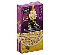 Signature Kitchens Macaroni & Cheese Dinner White Cheddar Box - 7.3 Oz