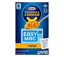 Kraft Macaroni & Cheese Dinner Easy Mac Original Box - 12.9 Oz