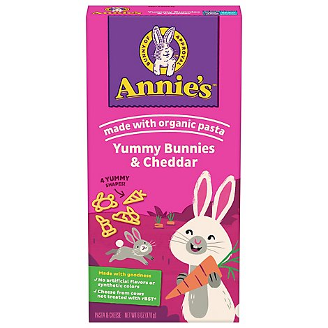 Annies Homegrown Macaroni & Cheese Bunny Pasta with Yummy Cheese Box - 6 Oz