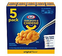 Kraft Macaroni & Cheese Dinner Original Box - 5-7.25 Oz