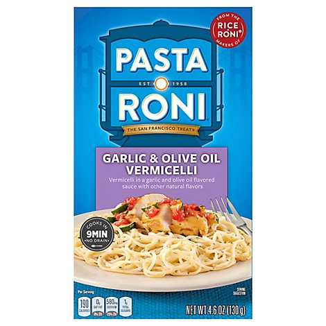 Pasta Roni Pasta Vermicelli Garlic & Olive Oil Box - 4.6 Oz