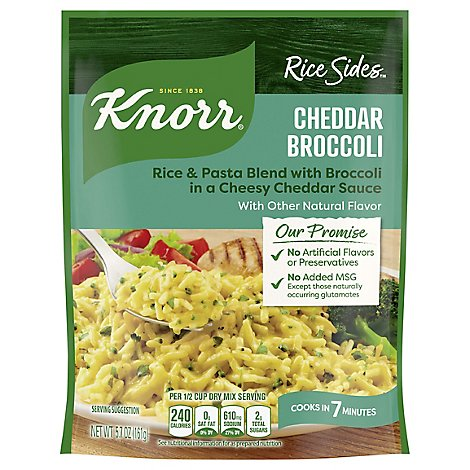 Knorr Rice Sides Cheddar Broccoli - 5.7 Oz