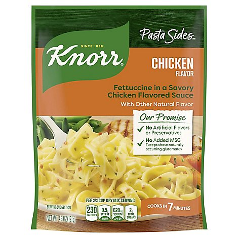 Knorr Pasta Sides Fettuccini Chicken Pouch - 4.3 Oz