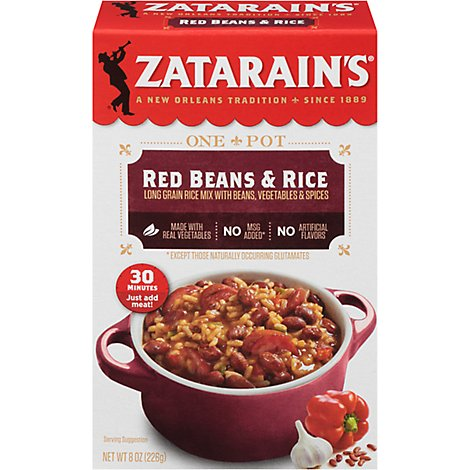 Zatarains Rice Dinner Mix Red Beans & Rice - 8 Oz