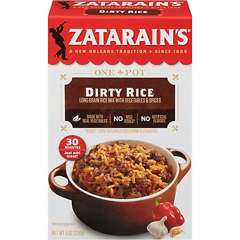 Zatarains Dirty Rice Dinner Mix - 8 Oz