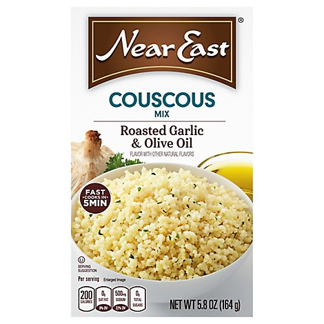 Near East Couscous Mix Roasted Garlic & Olive Oil Box - 5.8 Oz