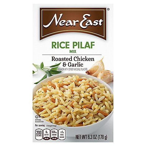 Near East Rice Pilaf Mix Roasted Chicken & Garlic Box - 6.3 Oz
