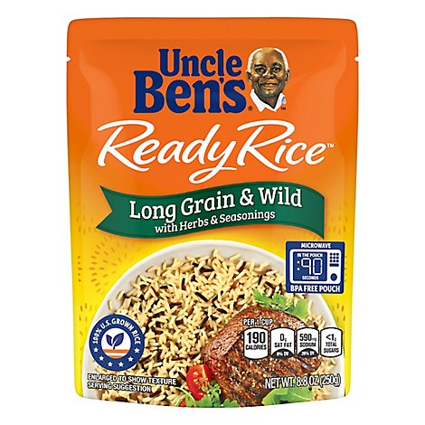 Uncle Bens Ready Rice Long Grain & Wild Pouch - 8.8 Oz
