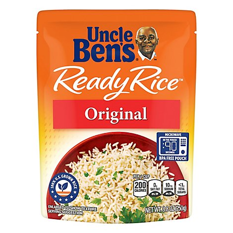 Uncle Bens Ready Rice Pouch Original - 8.8 Oz