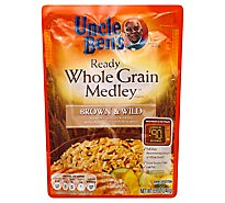 Uncle Bens Ready Medley Pouch Whole Grain Brown & Wild - 8.5 Oz