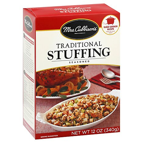 Mrs. Cubbisons Stuffing Seasoned Traditional Box - 12 Oz