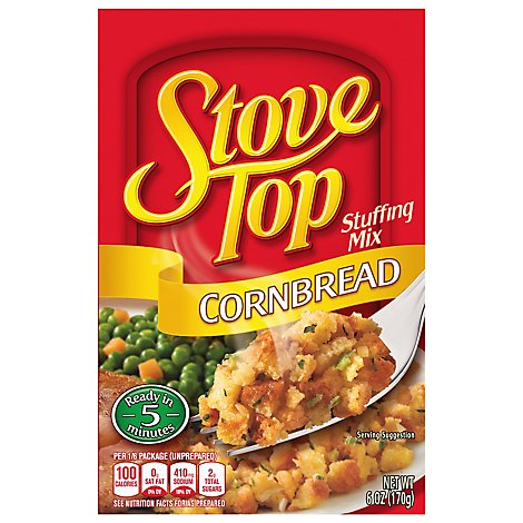 Stove Top Stuffing Mix Cornbread Box - 6 Oz
