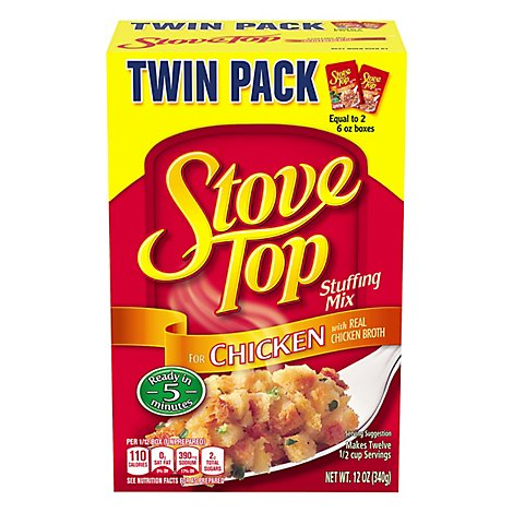 Stove Top Stuffing Mix for Chicken Twin Pack Box - 12 Oz
