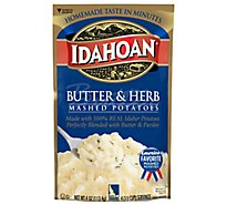 Idahoan Potatoes Mashed Butter & Herb Pouch - 4 Oz