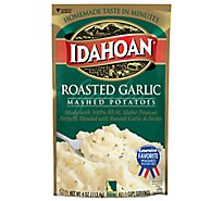 Idahoan Potatoes Mashed Roasted Garlic Pouch - 4 Oz
