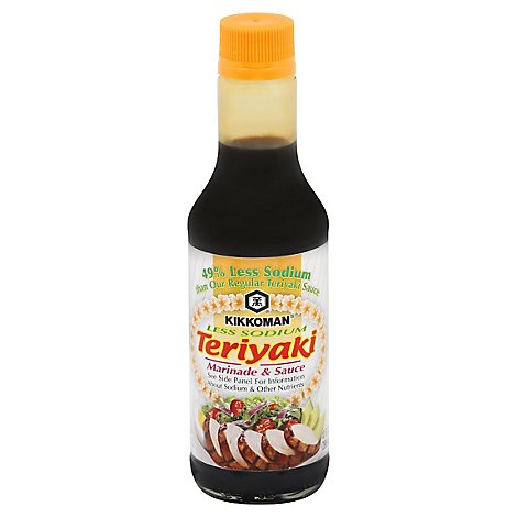 Kikkoman Marinade & Sauce Teriyaki Less Sodium - 10 Fl. Oz.