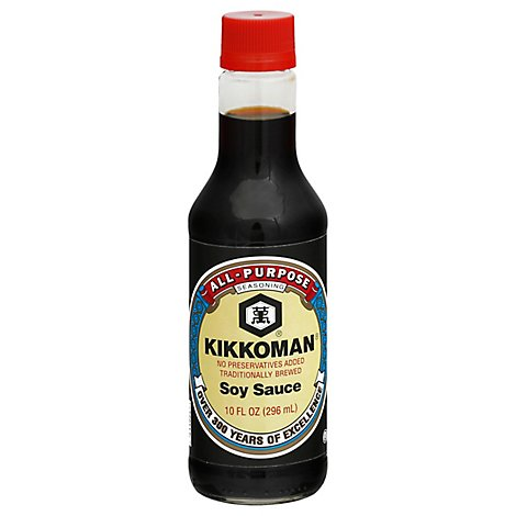 Kikkoman Soy Sauce All-Purpose Seasoning Bottle - 10 Fl. Oz.