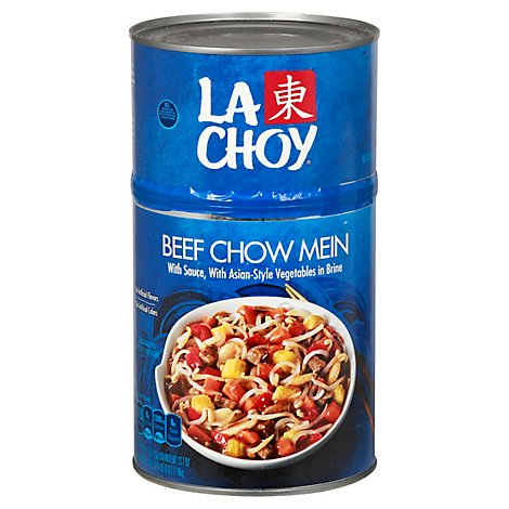 La Choy Beef Chow Mein With Sauce With Asian-Style Vegetables - 42 Oz