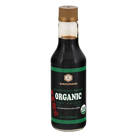 Kikkoman Soy Sauce Naturally Brewed Organic - 10 Fl. Oz.