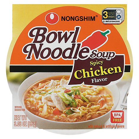 Nongshim Spicy Chicken Flavored Noodle Bowl Soup - 3.03 Oz