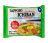 Sapporo Ichiban Japanese Style Noodles Chicken Flavored Soup - 3.5 Oz