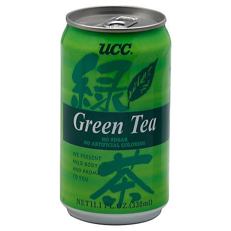 UCC Brand Green Tea Drink - 11.1 Fl. Oz.