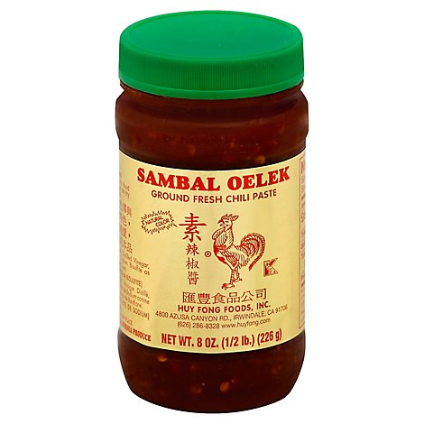Huy Fong Paste Sambal Oelek Chili - 8 Oz