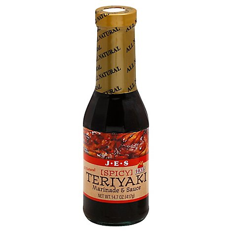 JES Marinade & Sauce Teriyaki Spicy Hot - 14.7 Oz
