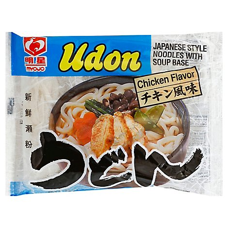 Myojo Udon Japanese Style Noodles With Soup Base Chicken - 7.22 Oz