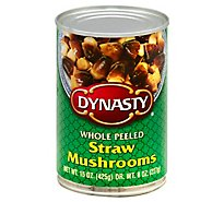 Dynasty Mushrooms Whole Straw - 15 Oz