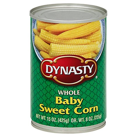 Dynasty Corn Whole Baby Sweet - 15 Oz