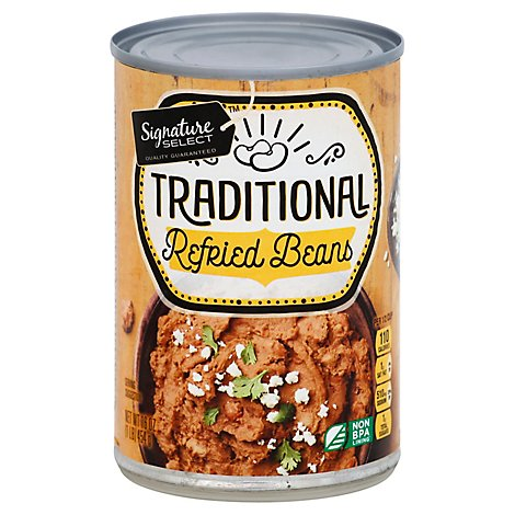 Signature SELECT Beans Refried Traditional Can - 16 Oz