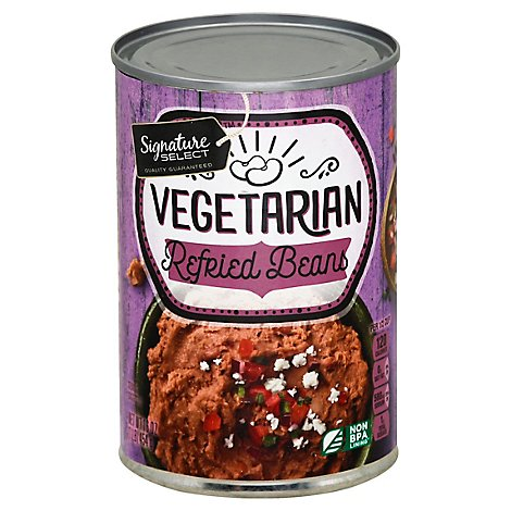 Signature SELECT Beans Refried Vegetarian Can - 16 Oz