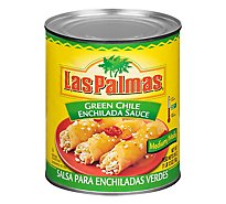 Las Palmas Sauce Enchilada Green Chile Medium Can - 28 Oz
