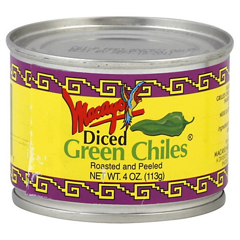 Macayo Green Chiles Roasted & Peeled Diced - 4 Oz