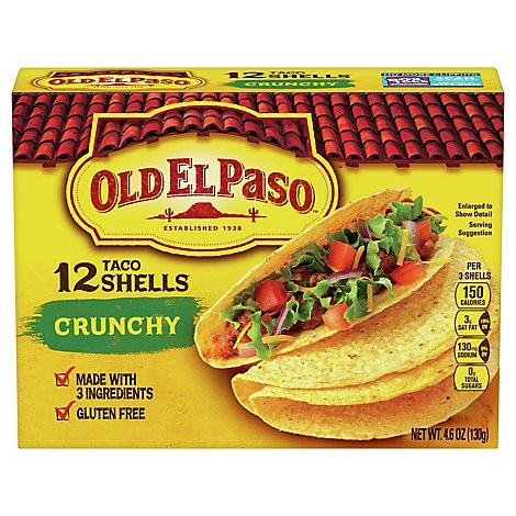 Old El Paso Taco Shells Crunchy Box 12 Count - 4.6 Oz