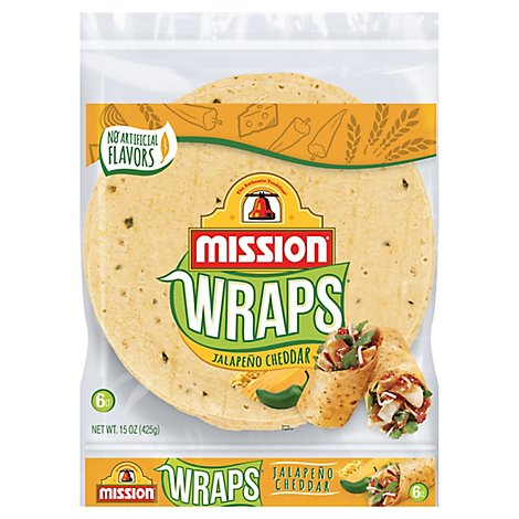 Mission Wraps Jalapeno Cheddar Bag 6 Count - 15 Oz