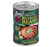 Amys Beans Refried Organic Traditional Can - 15.4 Oz