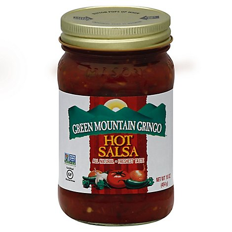 Green Mountain Gringo Salsa Hot Jar - 16 Oz