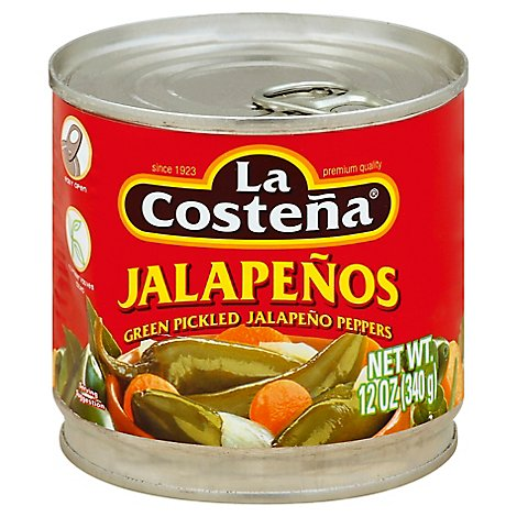 La Costena Jalapenos Can - 12 Oz