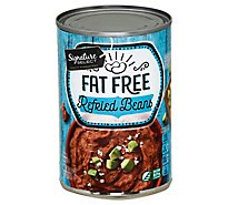 Signature SELECT Beans Refried Fat Free Can - 16 Oz