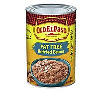 Old El Paso Beans Refried Fat Free Can - 16 Oz