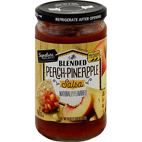Signature SELECT Salsa Peach-Pineapple Medium Jar - 24 Oz
